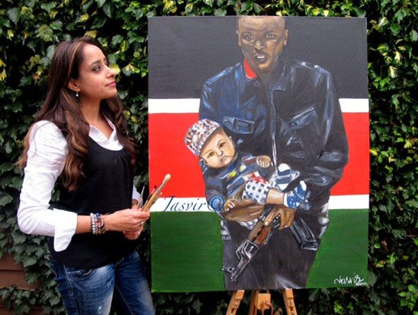 JASVIR PAINTS ICONIC PORTRAIT OF WEST GATE ATTACK.