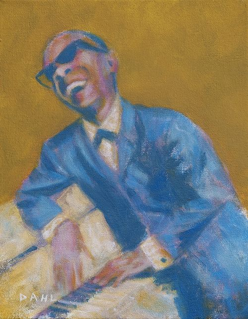 "Little Stevie Wonder, 1963. 11x14"" Oil on canvas 2014. $950 (unframed). http://chrisdahlcreative.com/paintings_page2010portraits.html"