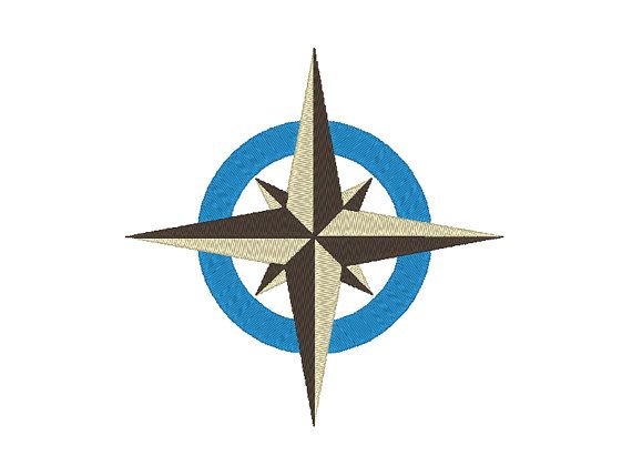 Compass Navigation Star Embroidery Design by OCDEmbroidery on Etsy