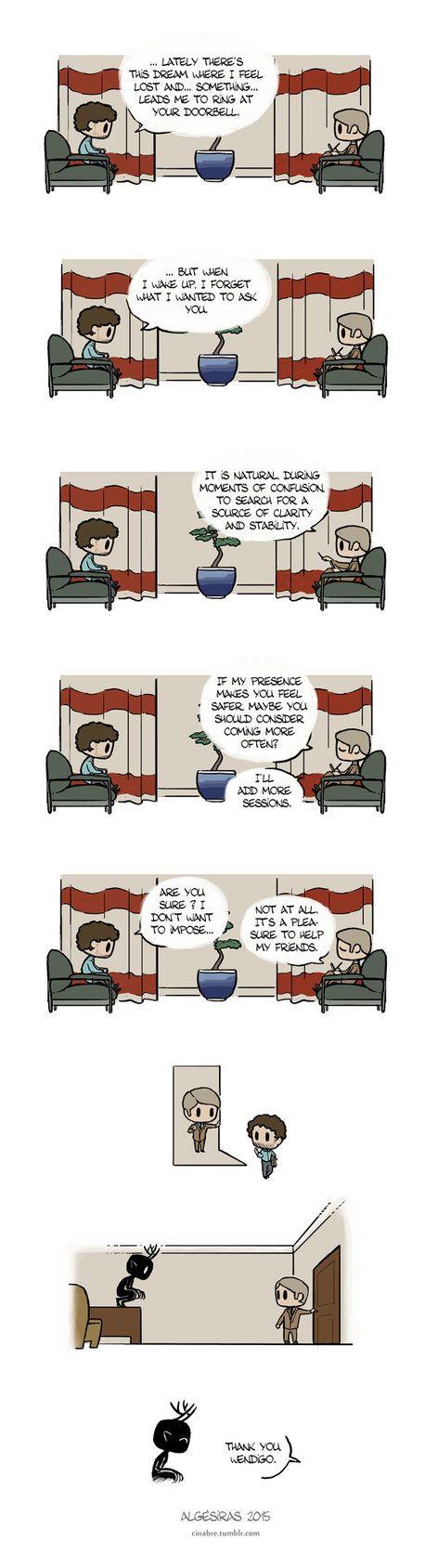 Pet Wendigo strip 10 - Therapy by Algesiras.deviantart.com on @DeviantArt