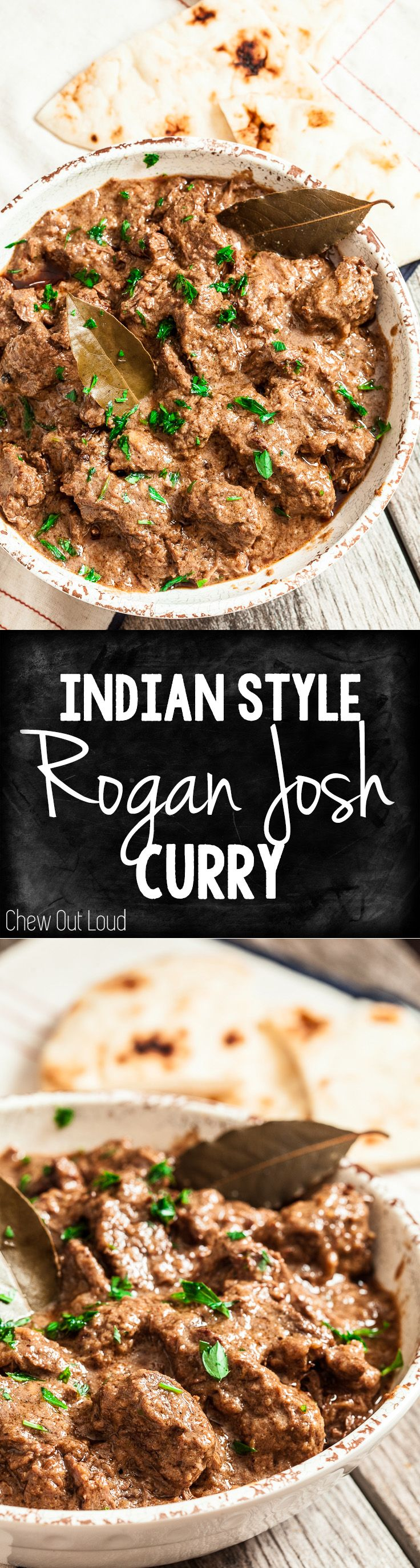 Indian Style Curry - Rogan Josh is the real deal. Perfect with basmati rice & naan bread. Soooo good.