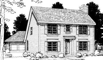 Colonial saltbox house plan 68694 for Colonial saltbox house plans