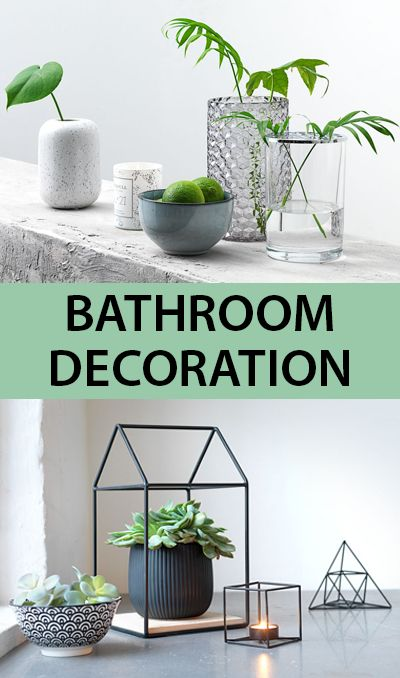 Bathroom decoration and interior ideas from jysk opt for a few vases and plenty of leafy greens to make the space feel fresh