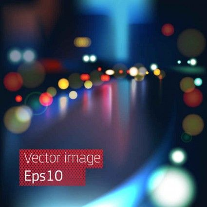Gorgeous night view vector001