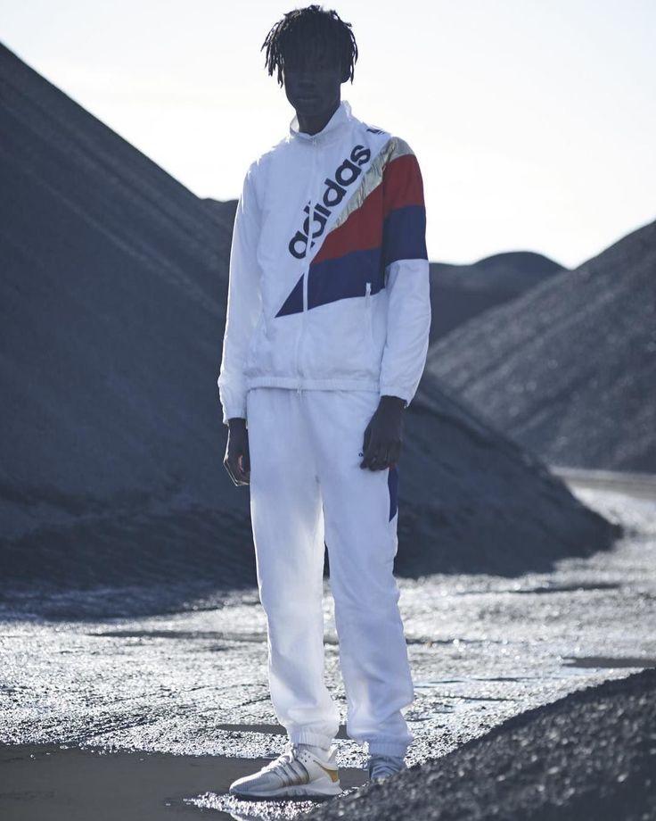 adidas Originals White Windbreaker Track Top | Urban Outfitters | Men's |  Coats & Jackets | Windbreakers & Anoraks #UOMens #UOEurope #Urbanoutfitterseu via @urbanoutfittersmens