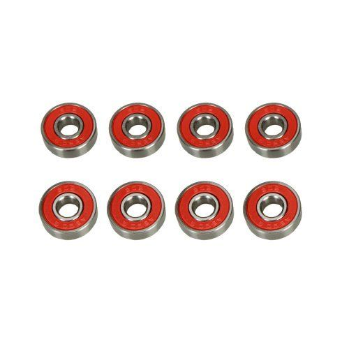 8 Pcs Abec-9 Skateboard Skate Bearings Red - Abec 9 by Crazy. $4.82. Features: 1. These Skateboard Bearings have the good   reputation in the skateboard industry 2. Everyone who rides these Skateboard   Bearings knows how fast they are, and most also comment on how long they   last 3. Skaters who use these Skateboard Bearings do so because they want the   very best equipment they can get and they know the difference between ordinary   and exceptional 4. These Durable Skate...