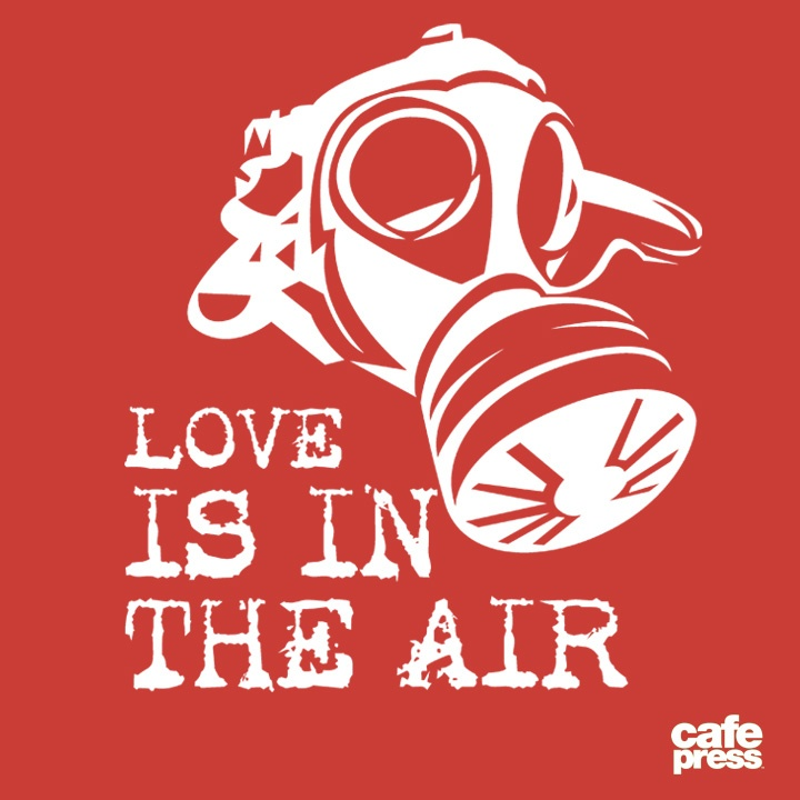1/24/2013 Design of the Day - Love is in the air… quick, throw on your mask, don't get infected! Hahaha.