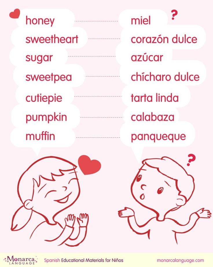Palabras dulces para san valentin spanish printables - Dulces de san valentin ...