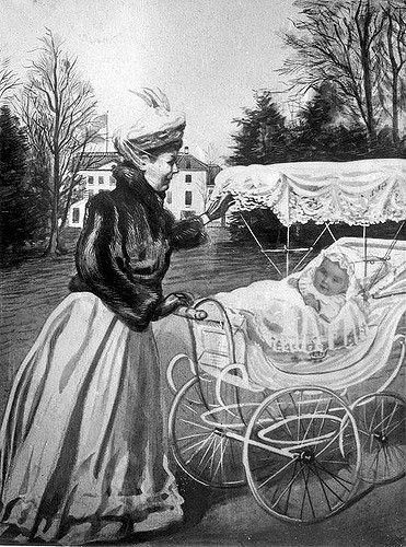1909 Juliana in de kinderwagen Juliana Nationaal Archief