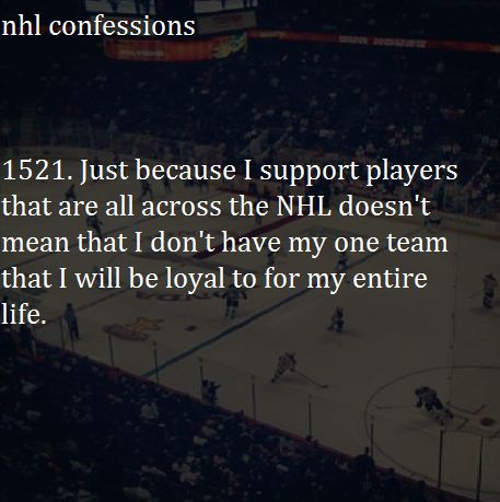 I will always be an Oilers fan, no matter who I like!