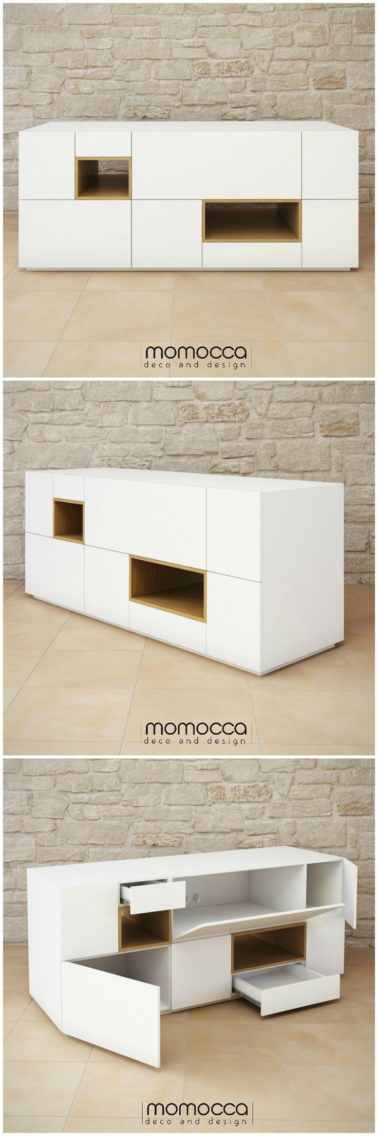 Colección DANIELA. Mesa Daniela. Mueble sencillo y elegante, de estilo minimalista. Se puede emplear tanto de aparador, como de mueble para tv o mueble auxiliar. Disponible en www.momocca.com