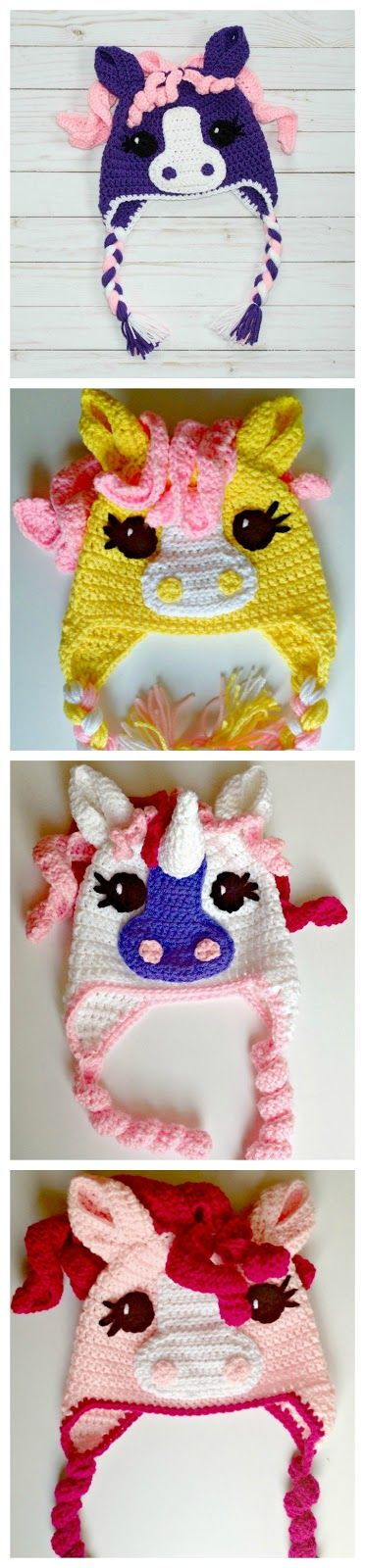 What child doesn't dream of having a pony? Make them this pony hat and they can BE the pony, and stay warm and look cute at the sam...