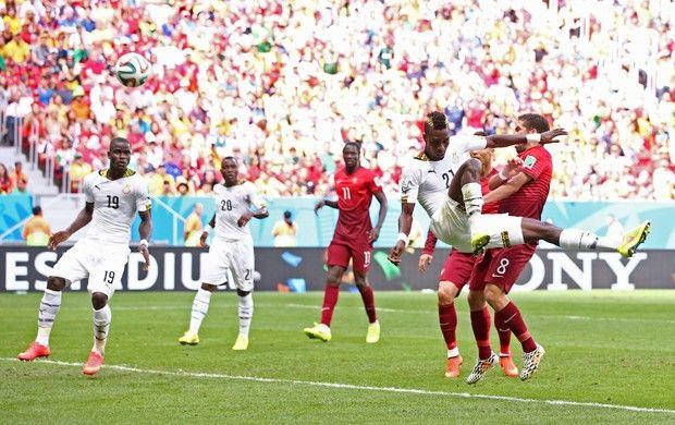 john Boye gol contra portugal x gana (Foto: Getty Images)26/06/2014.