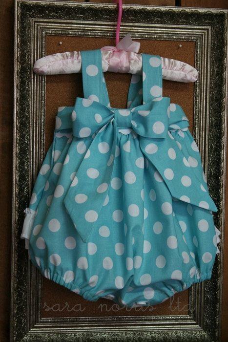 Custom made Sweet Baby Jane Sunsuit Romper Newborn-4T by Sara Norris Ltd. $45.00, via Etsy.