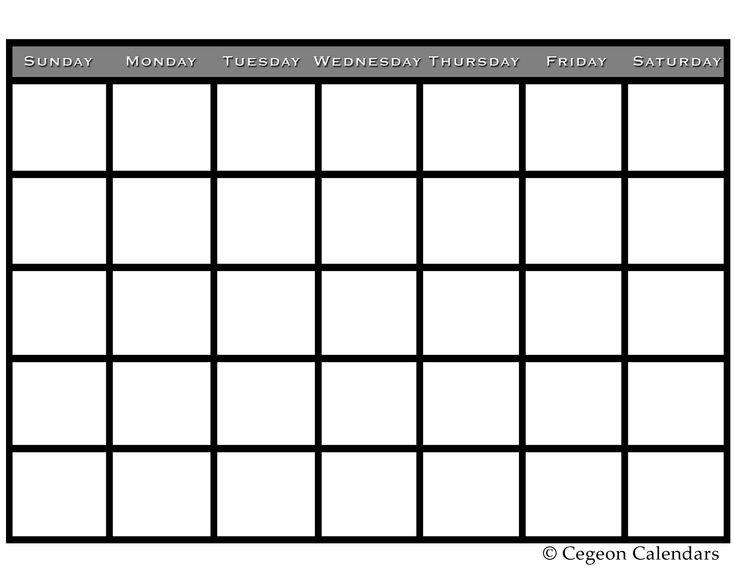 45 Best Calendar Templates Images On Pinterest Calendar Templates