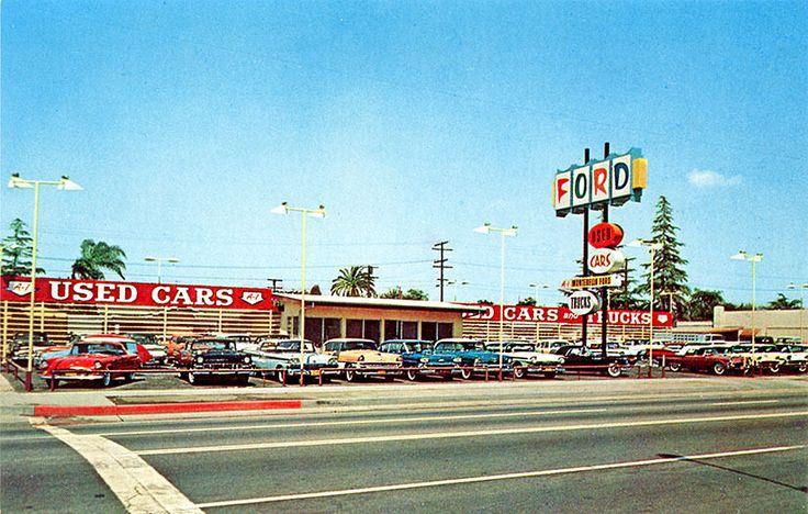 Montebello CA Ford Car Auto Dealership Photograph
