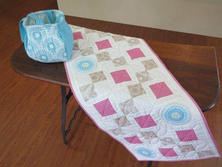Lotus Bag and Table Runner by C n Sew http://www.cnsewquiltshop.co.za/