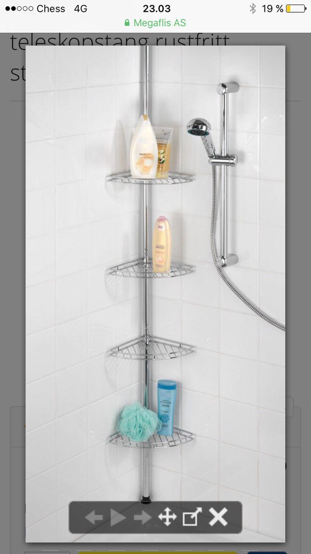 Praktisk oppbevaring for badekar.