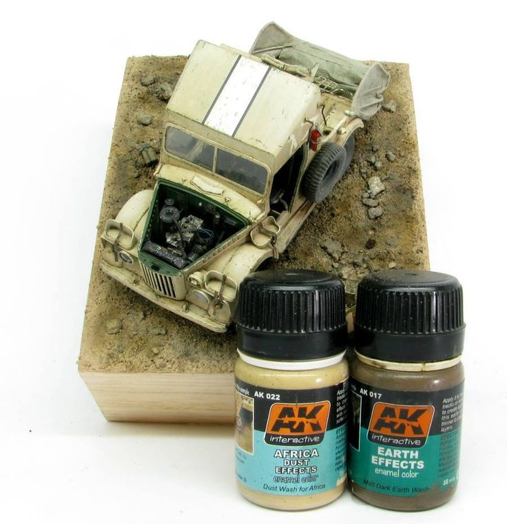 Dust & earth effects samples with AK022 + AK017 paints by Ak-interactive Australia.
