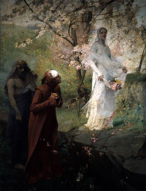 Albert Pierre René Maignan (1845-1908) - Dante meets Matilda