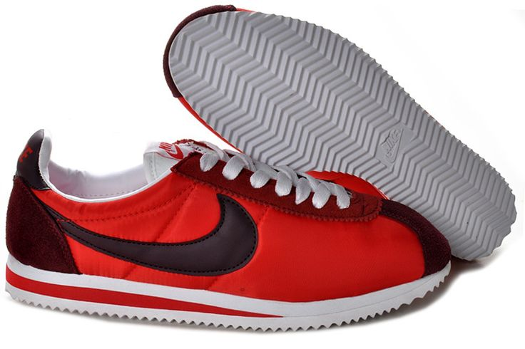 Nike Classic Cortez Nylon Cym Red Black Burgundy White 488291 601