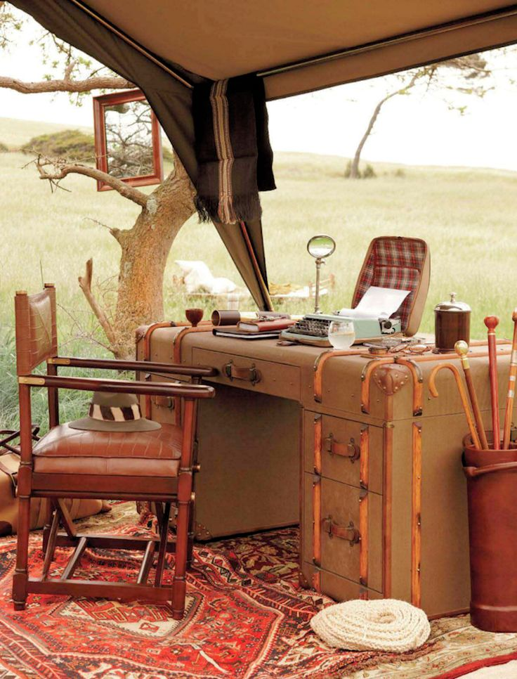 British Colonial style - safari camp - Photo by Micky Hoyle - 1930's style