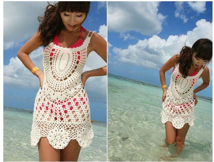 Fantástico Playa De Crochet Patrón De Encubrir Libre De Vestir ...