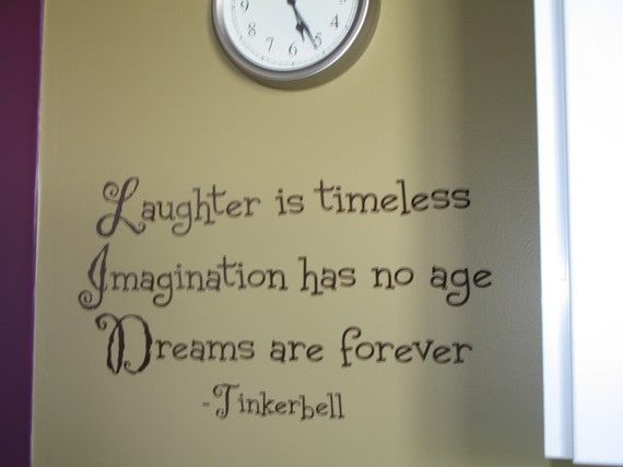 this saying would go great in the girls toy room which Tinkerbell and Princess themed