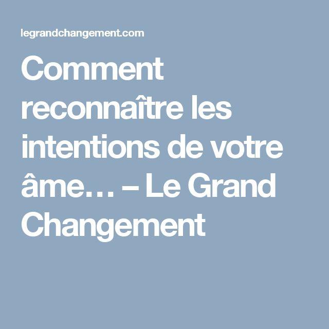 Comment reconnaître les intentions de votre âme… – Le Grand Changement