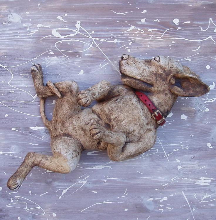 Dog, ceramic sculpture Michaela Stejskalova