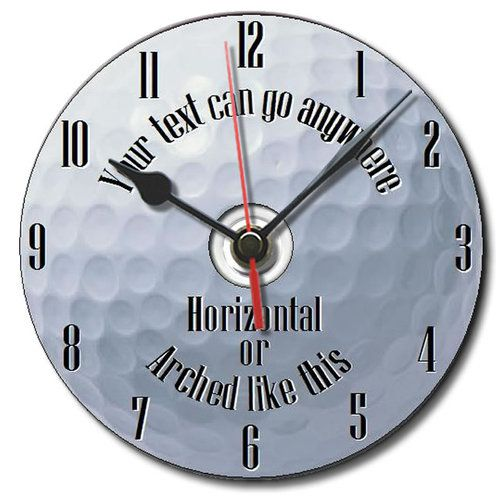 Golf ball golfing gift cd clock personalised free boxed with display stand