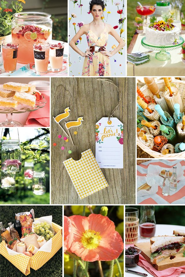 cute ideas for a picnic party!!