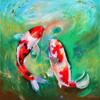 Koi Karpers schilderij