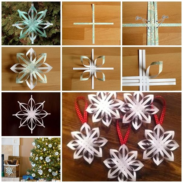 453 best snowflake crafts images on pinterest christmas crafts wonderful diy woven paper star snowflake ornaments solutioingenieria Choice Image