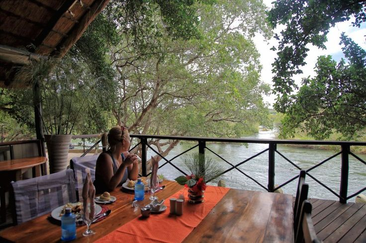 Lunch + a peaceful view at Ichingo Chobe River Lodge! #TakeMeHere