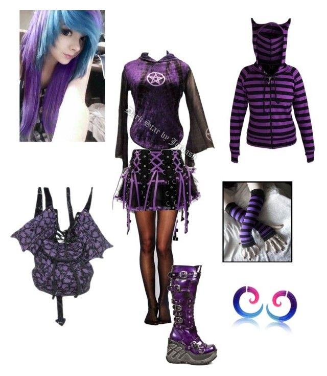 Emo Girl 11 By Sjcountrygirl Sj Liked On Polyvore Featuring Hell Bunny Wolford And