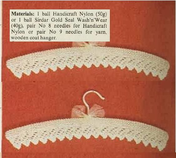Vintage Pattern 70s- Knitting HANGER Cover PATTERN Refer to last photo for materials ♥´¨) ¸.•´ ¸.•*´¨)¸.•*¨) (¸.•´ (¸.•`♥ Instant Download