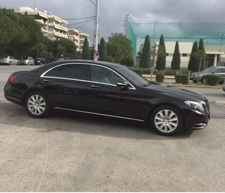 Our company, under the continuous upgrading of its fleet, welcomes another luxurious model, perfect for private tours to Greece and Athens.The new 2015 Mercedes S Class is equipped with 3 TV sets,2 independent DVD'S,CD,MP3,separate CLIMA for rear passengers,panoramic sun roof,rear adjustable independent seats,electrical side curtains,BURMESTER sound system, ambient lighting and of course first class leather seats.Perfect for private tours and transfers in Athens or Greece up to 3 passengers.