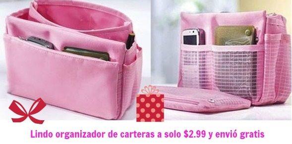 Organizador de carteras en color rosado a solo $3 envió gratis en Amazon - Súper Baratísimo o Gratis #amazondeals #ofertasamazon #navidad