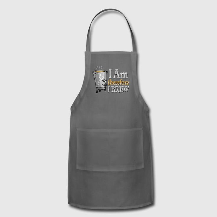 I Am Therefore I Brew Adjustable Apron. Perfect gift for homebrewers! #homebrewer #brewingbeer #beerbrewing #giftidea