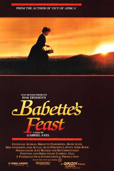 Babette's Feast. A must watch for anyone who understands and appreciates the eloquence of old-school cooking.