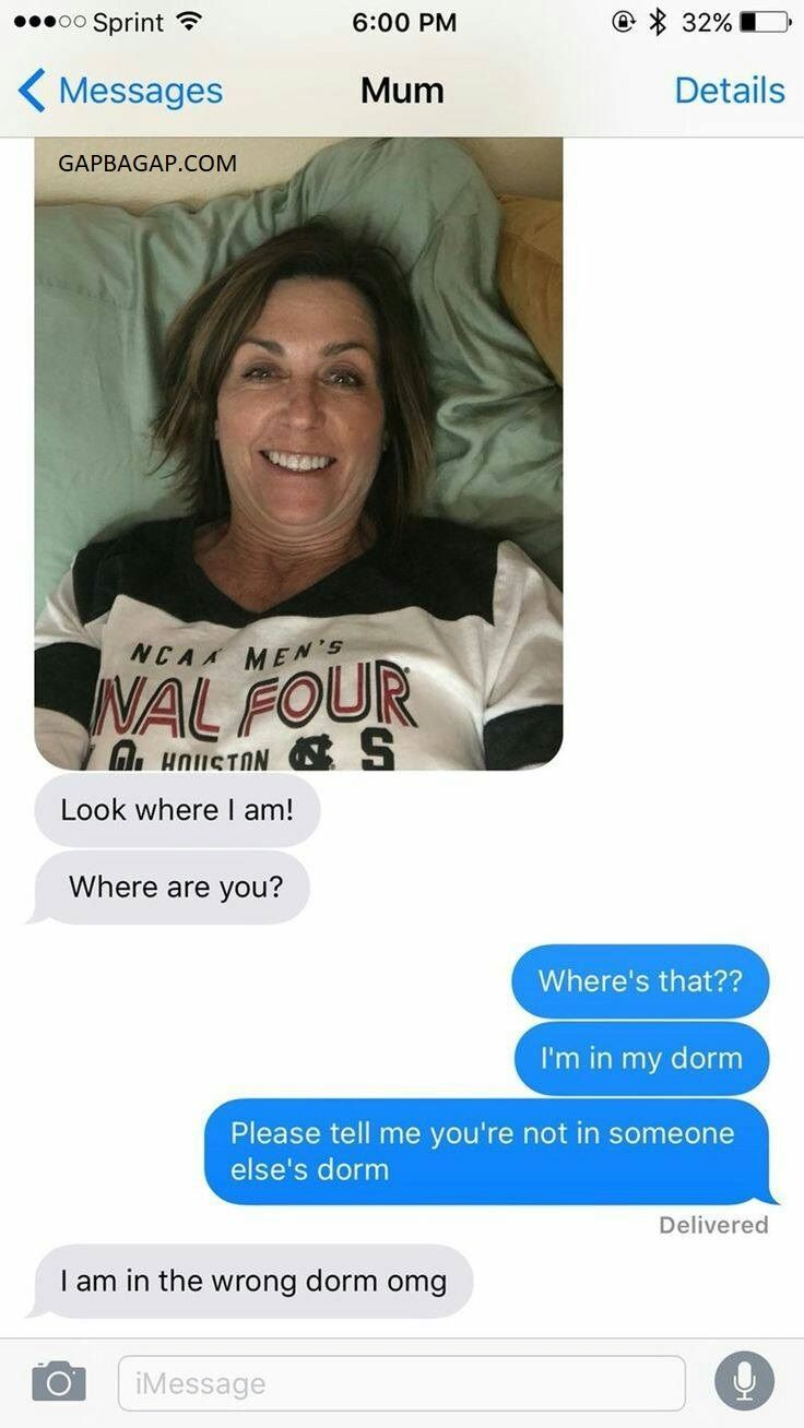 Funny Text about Mom vs Wrong Dorm