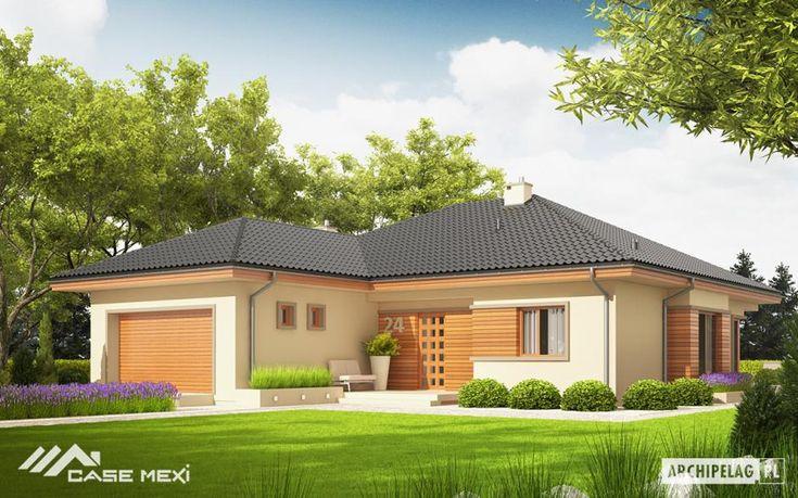 Proiectul ERIS G2 C propune o #casa dedicata investitorilor care apreciază confortul si designul contemporan. Finisajele alese se rezuma la tencuiala decorativa in doua nuante, alb si maro, impreuna formand o combinatie cromatica eleganta. Planul locuintei se distribuie pe un singur nivel.
