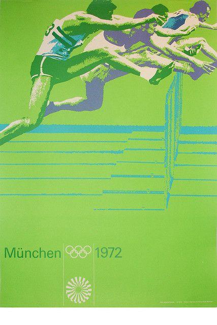 1972 Munich Olympics    Hurdles  Design – Otl Aicher