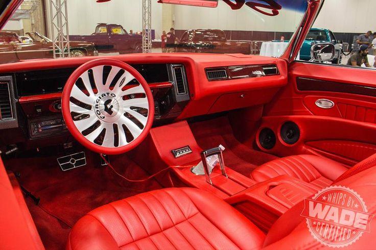donk 74 caprice convertible grey with all red interior custom door panels kingadrian1978 car