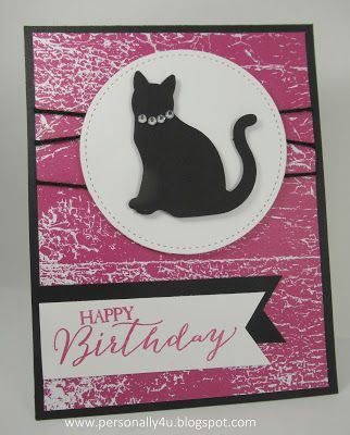 Personally Yours: Happy Birthday Cat Card