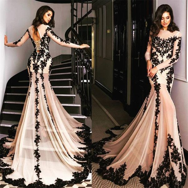 I found some amazing stuff, open it to learn more! Don't wait:http://m.dhgate.com/product/arabic-nude-black-long-sleeve-evening-gowns/377445024.html