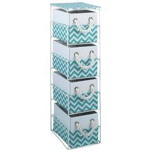 Buy HOME Slimline 4 Drawer Storage Tower - White at Argos.co.uk, visit Argos.co.uk to shop online for Bathroom shelves and storage units, Bathroom furniture, Home and garden