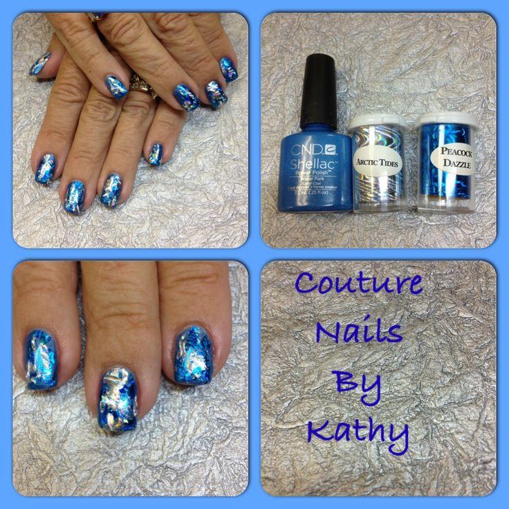 Nail Art Couture Converse Nail Art: CND Shellac And Foil Nail Art