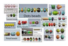 Glass beads  - some examples of what I play with.
